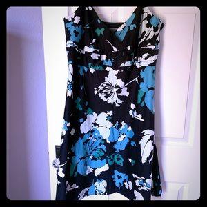 Ann Taylor cotton cami sundress blue floral sz. 10